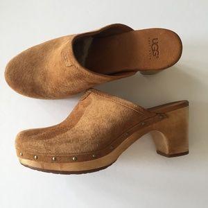 Abbie Suede Clogs - Size 9